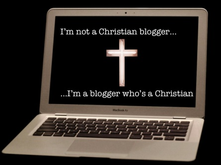 "Ironically the first image found when one googles ""Christian Blogger"""